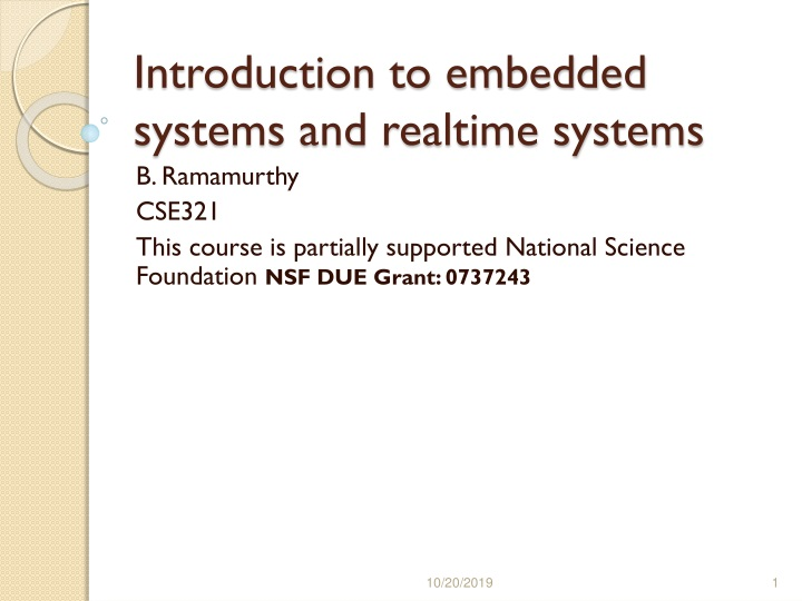 introduction to embedded systems and realtime systems n.