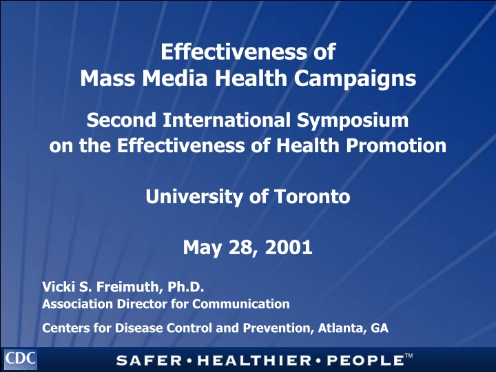 effectiveness of mass media health campaigns n.
