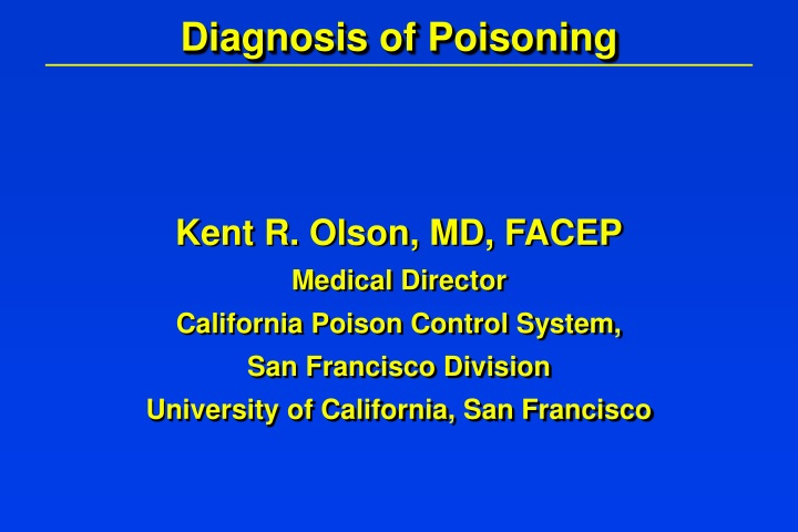 diagnosis of poisoning n.