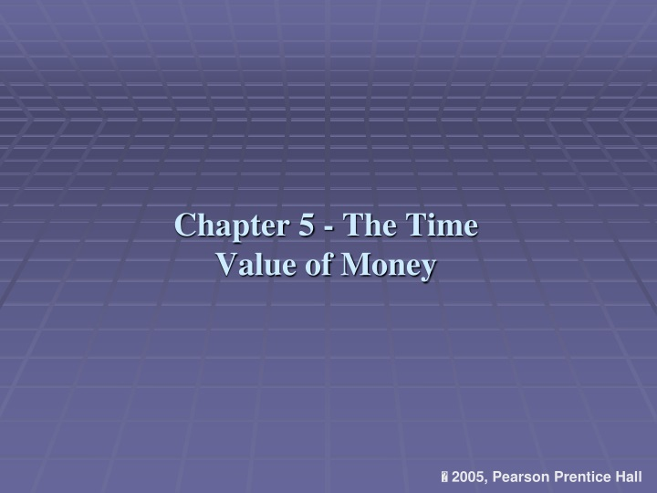 chapter 5 the time value of money n.