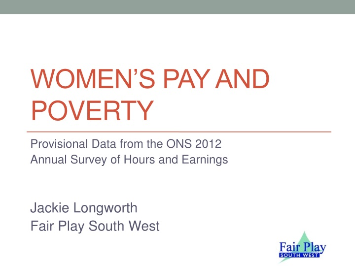 women s pay and poverty n.