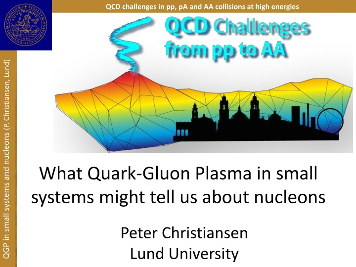 what quark gluon plasma in small systems might tell us about nucleons n.