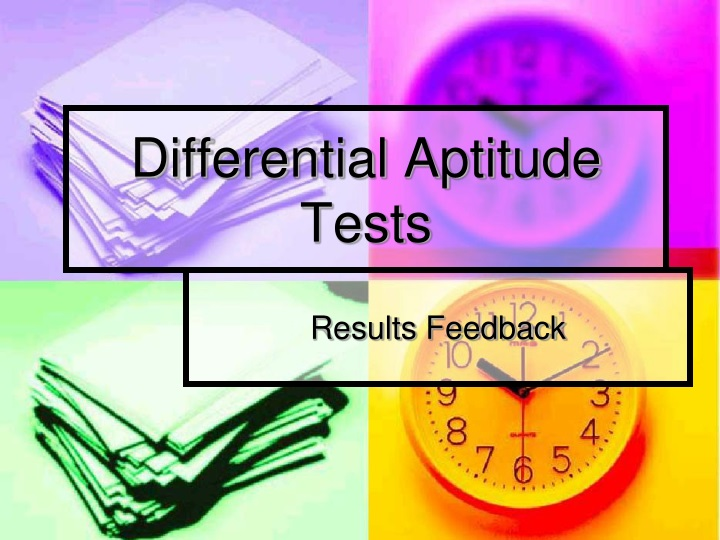 Ppt Differential Aptitude Tests Powerpoint Presentation Free Download Id 159899