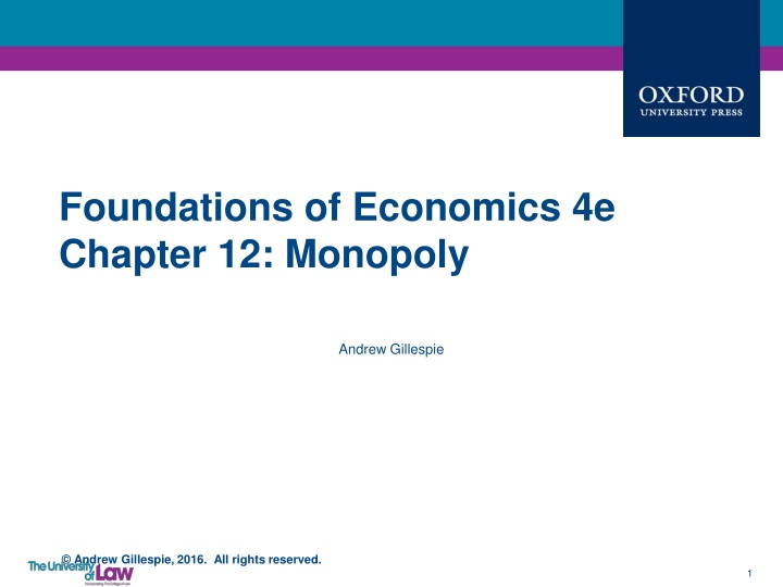 foundations of economics 4e chapter 12 monopoly n.