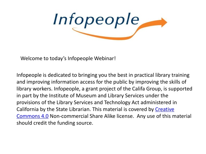 welcome to today s infopeople webinar n.