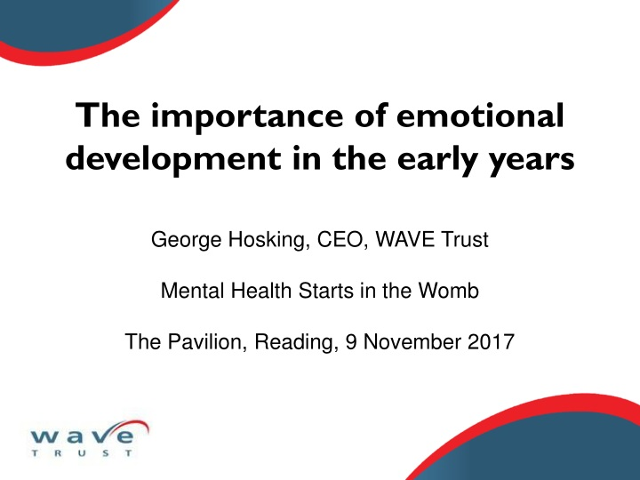 the importance of emotional development in the early years n.