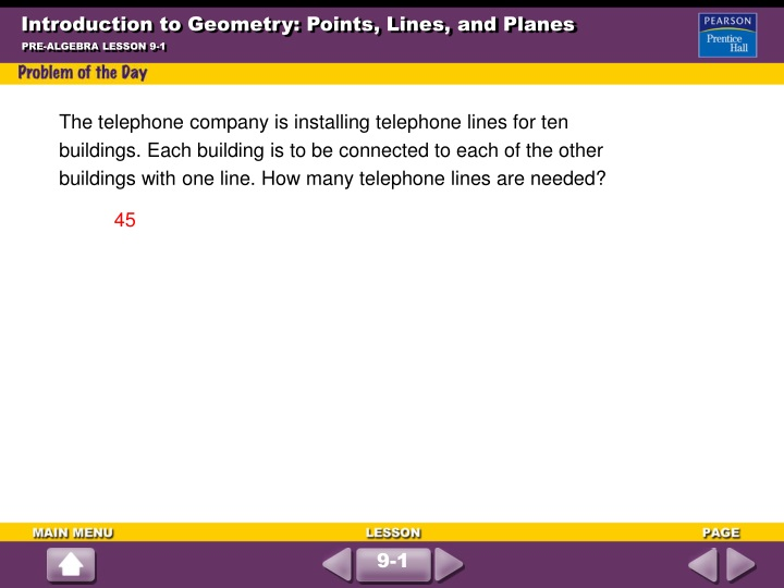 introduction to geometry points lines and planes n.