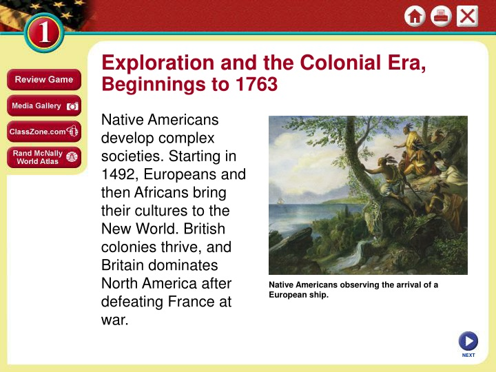 exploration and the colonial era beginnings n.