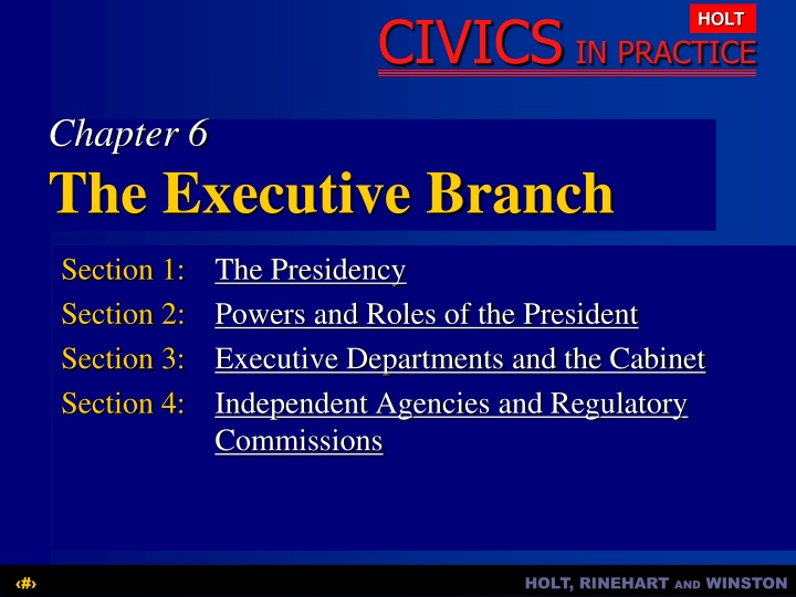 chapter 6 the executive branch n.