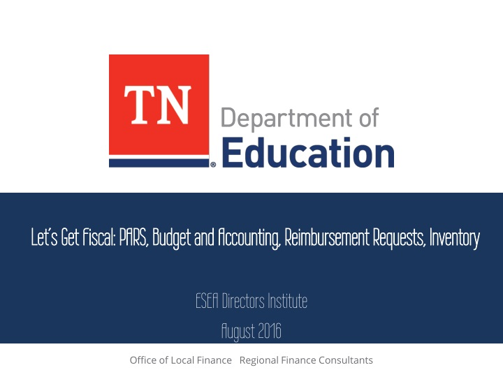 let s get fiscal pars budget and accounting reimbursement requests inventory n.