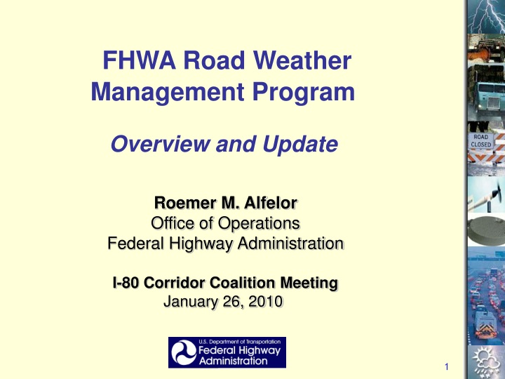 fhwa road weather management program overview n.