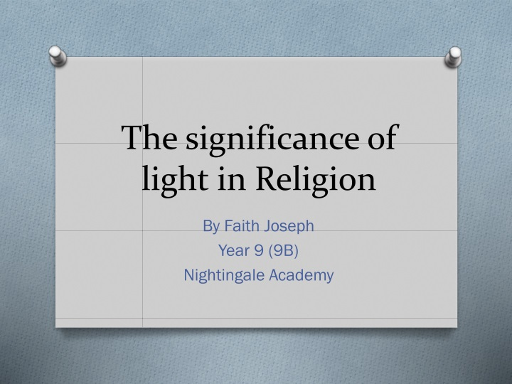 the significance of light in religion n.