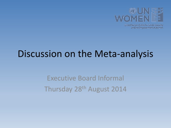 discussion on the meta analysis n.