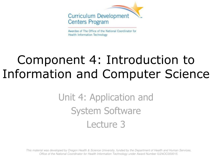 component 4 introduction to information and computer science n.