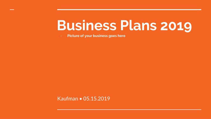 business plans 2019 picture of your business goes here n.