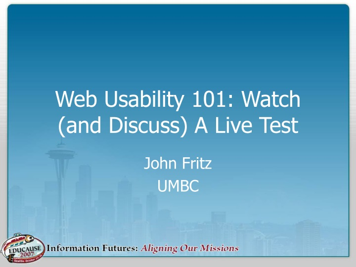 web usability 101 watch and discuss a live test n.