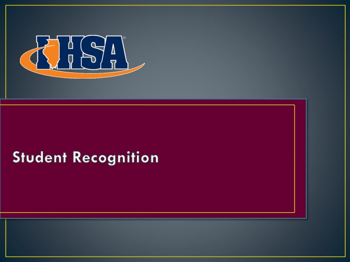 student recognition n.