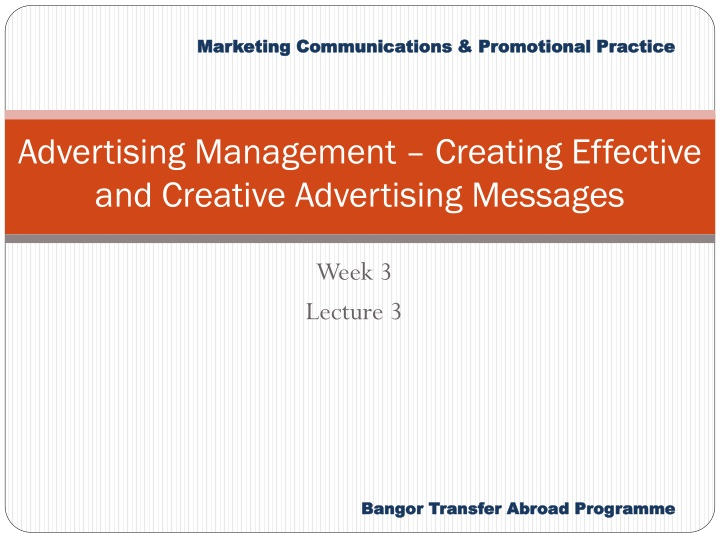 advertising management creating effective and creative advertising messages n.