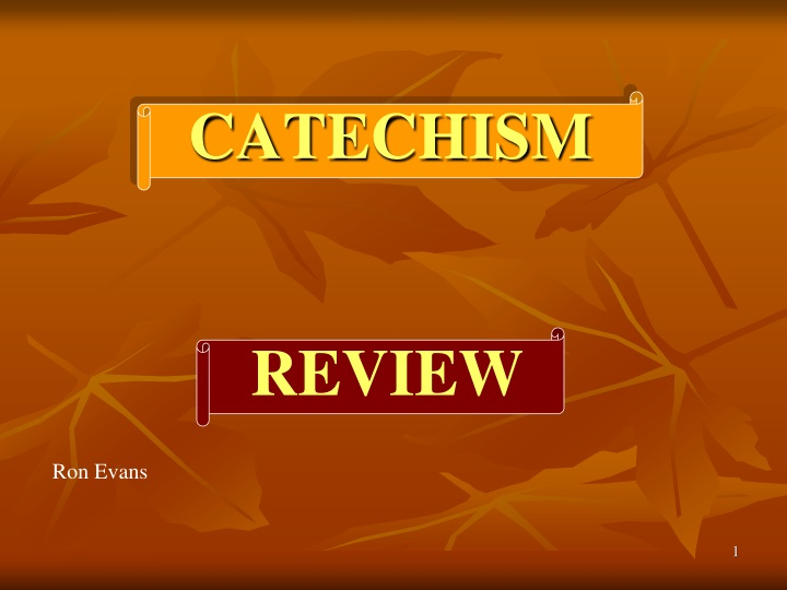 catechism n.