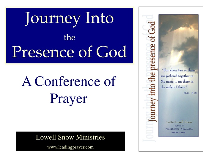 journey into the presence of god n.