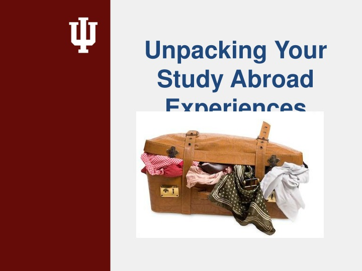 unpacking your study abroad experiences n.