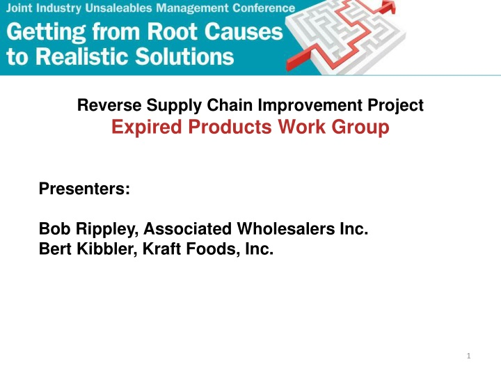 reverse supply chain improvement project expired n.