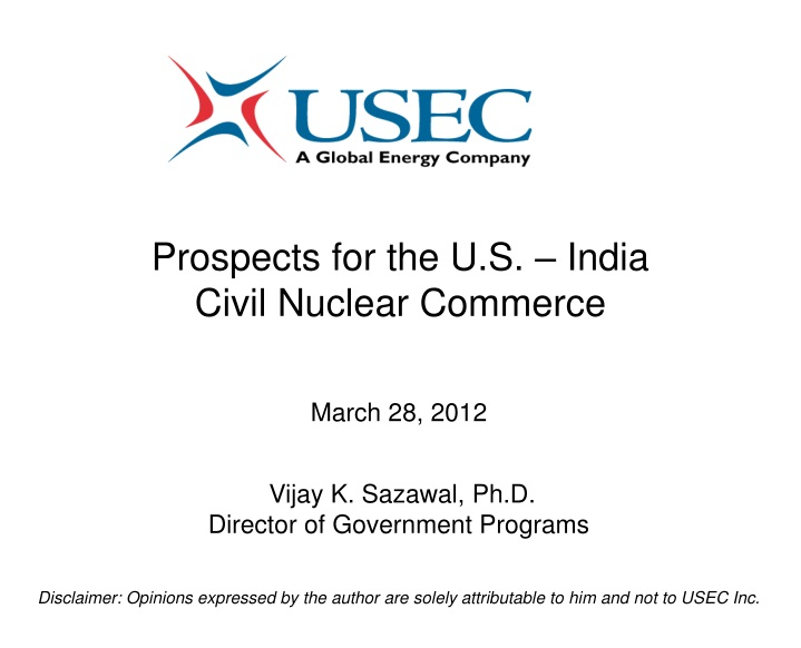 prospects for the u s india civil nuclear commerce n.