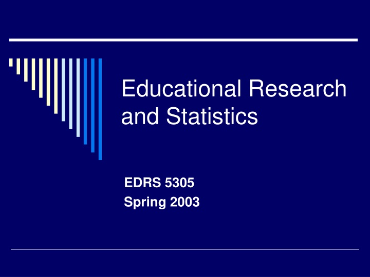 educational research and statistics n.