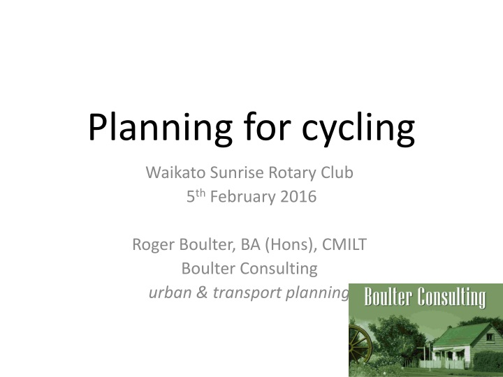 planning for cycling n.