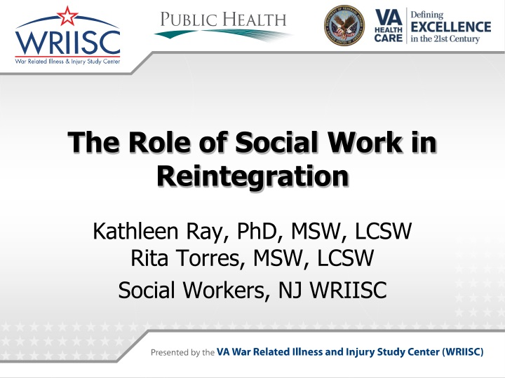 the role of social work in reintegration n.
