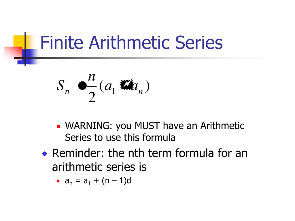 PPT - Arithmetic and Geometric Series PowerPoint ...