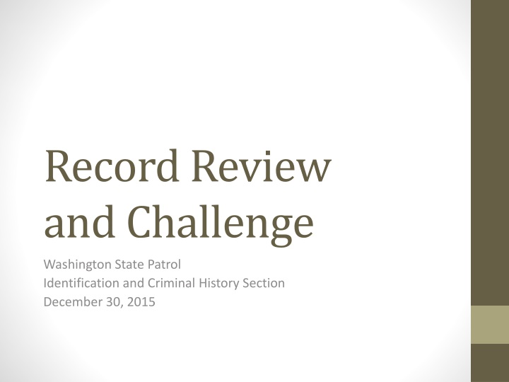 record review and challenge n.