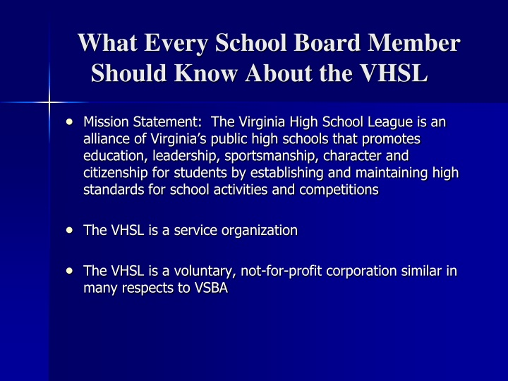what every school board member should know about the vhsl n.