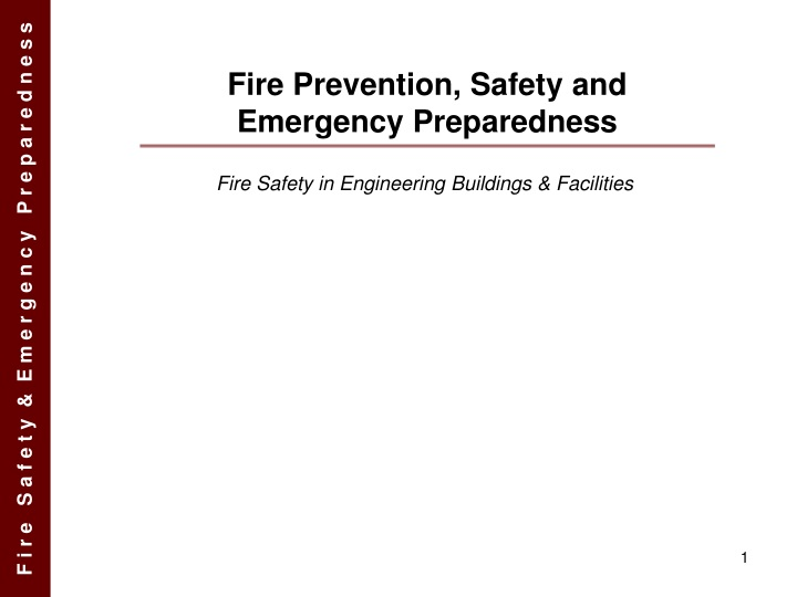 fire prevention safety and emergency preparedness n.