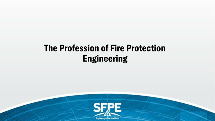 the profession of fire protection engineering n.