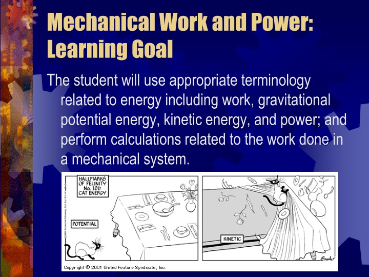 mechanical work and power learning goal n.