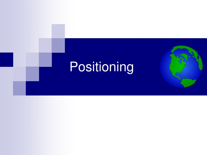 positioning n.