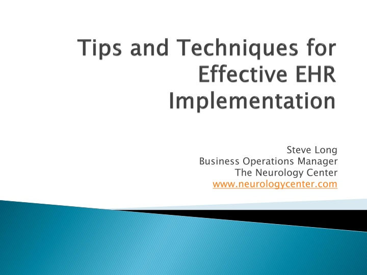tips and techniques for effective ehr implementation n.