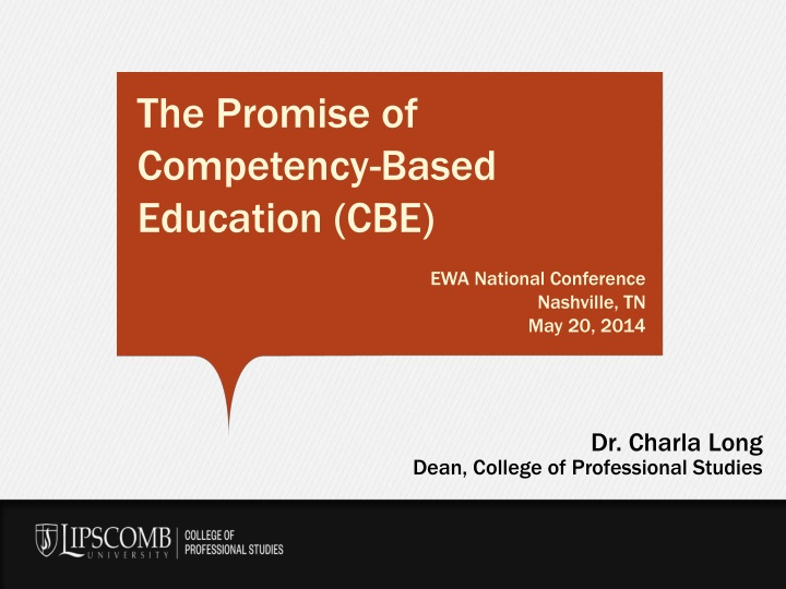 the promise of competency based education n.
