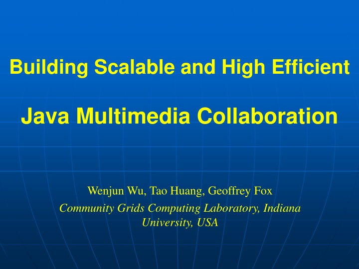 building scalable and high efficient java multimedia collaboration n.