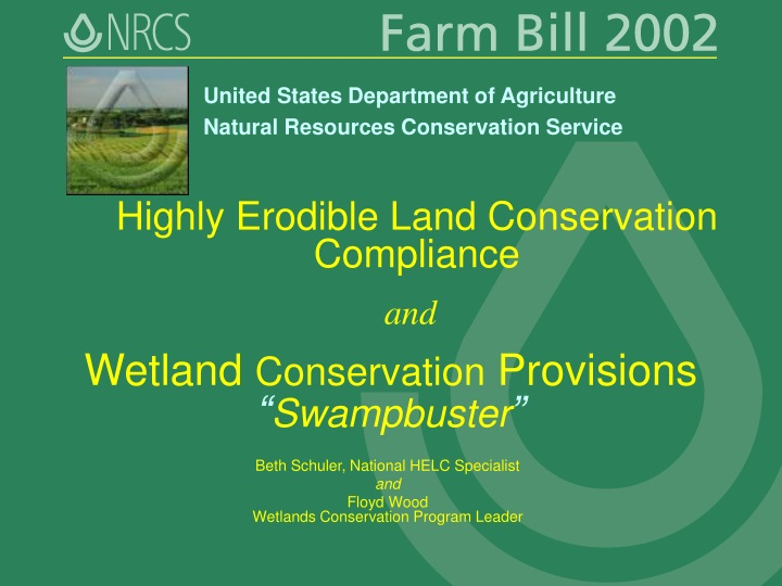 highly erodible land conservation compliance n.