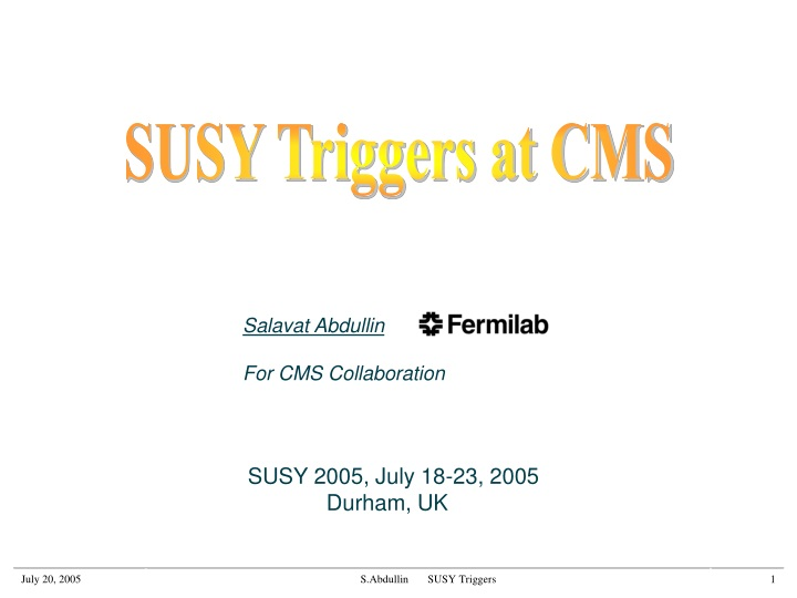 susy triggers at cms n.