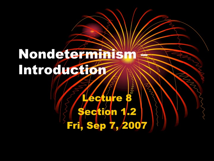 nondeterminism introduction n.