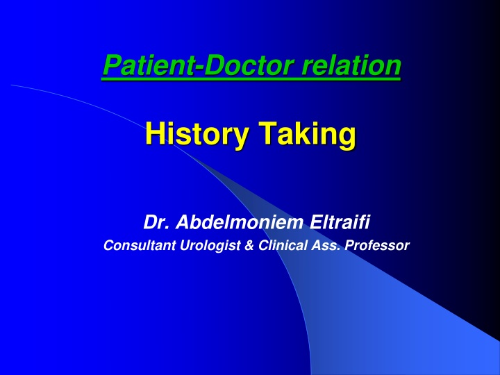 patient doctor relation history taking n.