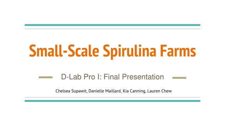 small scale spirulina farms n.