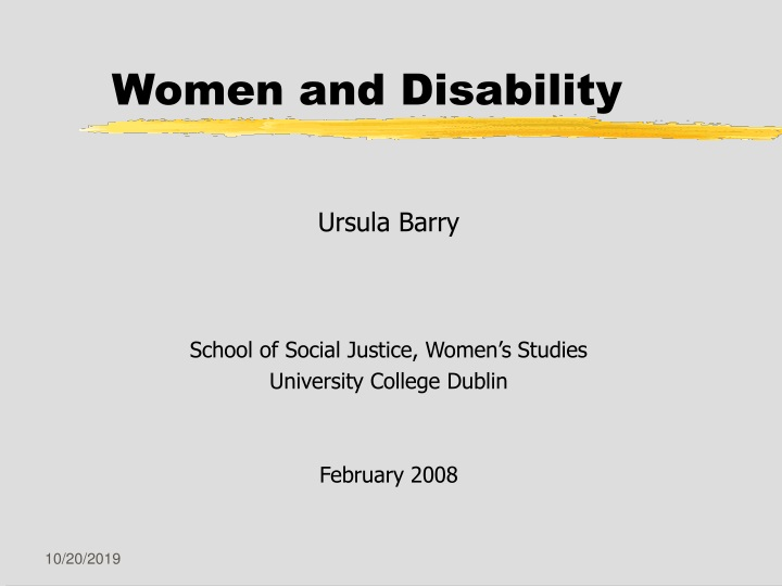 women and disability n.