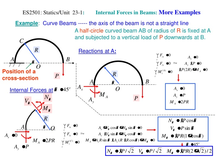 es2501 statics unit 23 1 internal forces in beams more examples n.