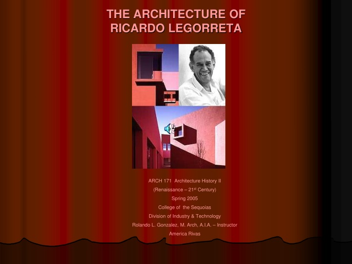 the architecture of ricardo legorreta n.