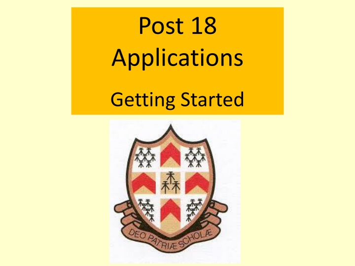 post 18 applications getting started n.