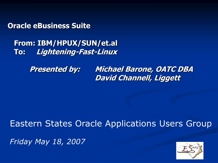 oracle ebusiness suite from ibm hpux n.